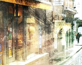 Rainy French Streets, Boulangerie - 11x14 matted print