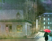 Exposition, Rainy Streets in France - 11x14 matted print