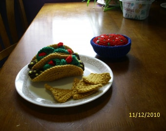 Tacos & Salsa With Chips Play Food