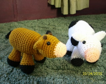 PATTERN Cute Little Cow Crochet Pattern - DOWNLOADABLE