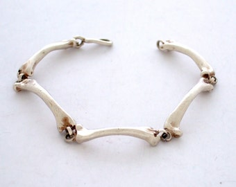 Small BONE LINK Bracelet in Sterling Silver