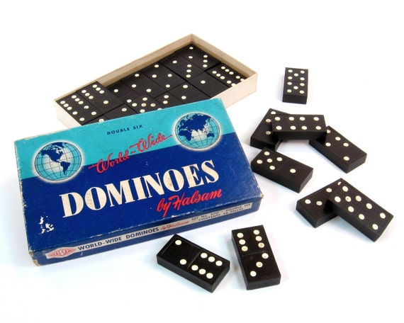 Dominoes Vintage World Wide by Halsam -- Real Wood