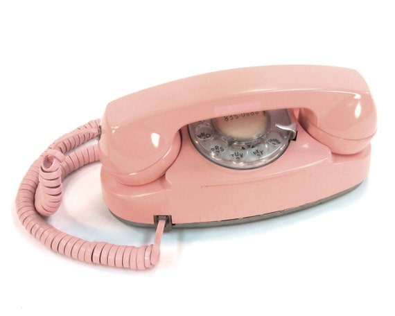 Vintage Rotary Telephone / Pink Princess Phone / Western Electric