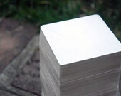 100 Blank 3.5 inch Square Coasters, heavyweight. Perfect for letterpress, crafts, etc