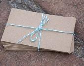 50 Kraft Coin Envelopes, brown bag kraft. Perfect for wedding favors, letterpress, crafts, etc
