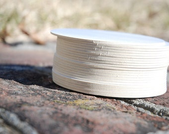 100 Blank 4 inch Round Coasters, heavyweight. Perfect for letterpress, crafts, etc