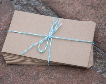 50 Kraft Coin Envelopes, brown bag kraft. Perfect for wedding favors, letterpress, crafts, etc