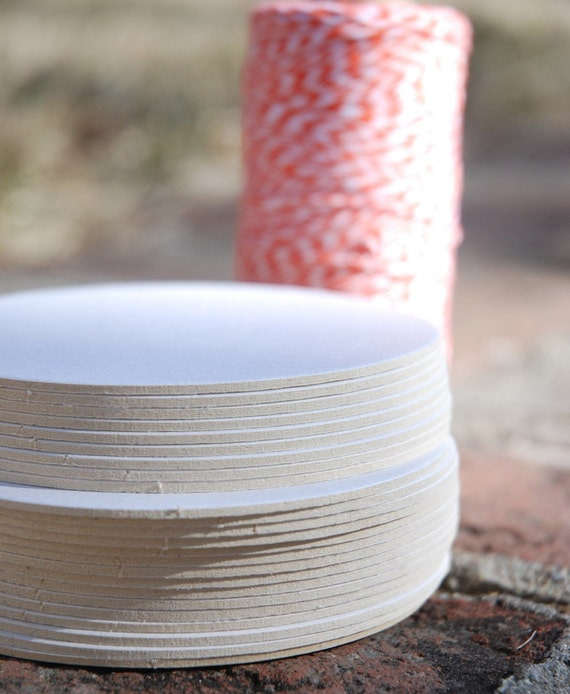 50 Blank 4 inch Round Coasters, heavyweight. Perfect for letterpress, crafts, etc