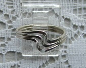 Sterling Silver Twisted Wire Ring. Elegant.