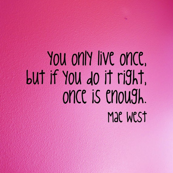 Items similar to Mae West - removable wall quote - You ...
