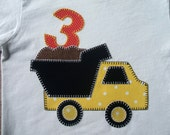 Dump Truck Birthday Shirt Can Be Made with Any Age