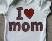 I Love Mom Onesie