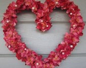 Heart Wreath, Valentine Wreath, Wedding Wreath, Floral Wreath