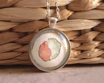 Handmade Sushi Necklace- Art Pendant