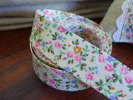 RESERVED Listing fro Christabel Thring  -  Bias Binding Liberty Spring Flowers - Single Fold Bias Tape