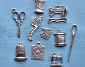Quilting Charm Collection Antique  Silver Tone - COL003