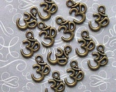 10 OM Charms Antique  Bronze Tone - BC265