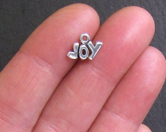 15 Joy Charms Antique  Silver Tone - SC274