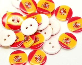 15 Spain Flag Buttons BUT184