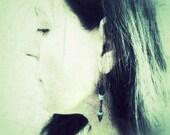 Tribal arrow earrings. Turquoise antique bronze dangle earrings. December birthstone gift idea