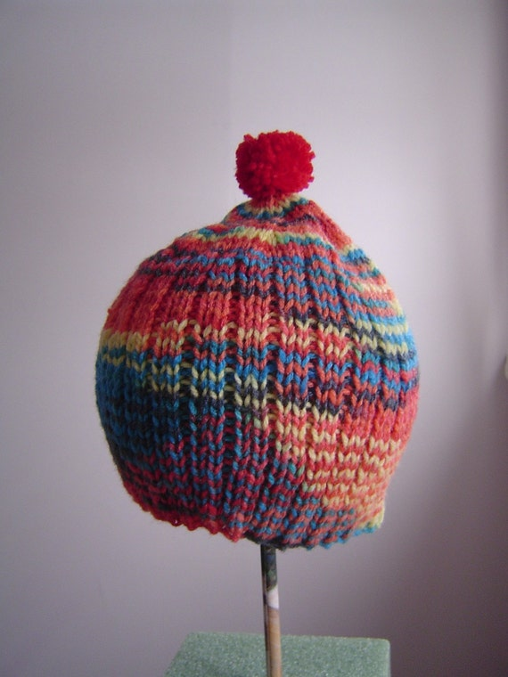 Nonas' one-of-a-kind hand knit original boy toddler cap