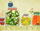 bottle and preserve - art print