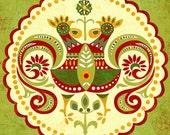 Folklore Mandala-art print