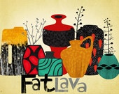 SPRING SALE-Fat Lava-art print-limited edition