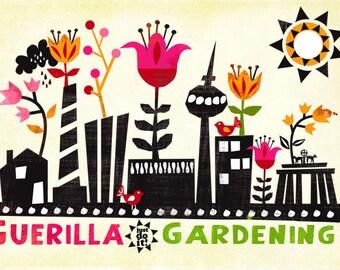 Guerilla Gardening-limited edition art print