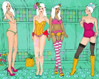 Dessous Party - Limited Edition art Print