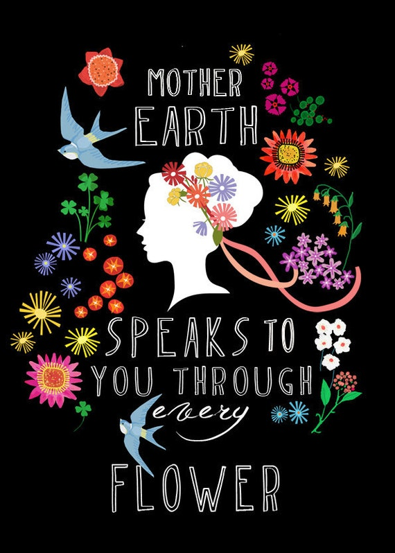 SPRING SALE Mother Earths speaks-limited edition art print