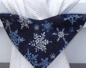CLEARANCE - Blue Snowflakes, Stay-Put Towel