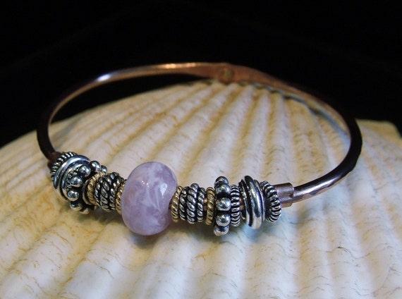 Copper Rustic Charm Handmade Bangle Bracelet