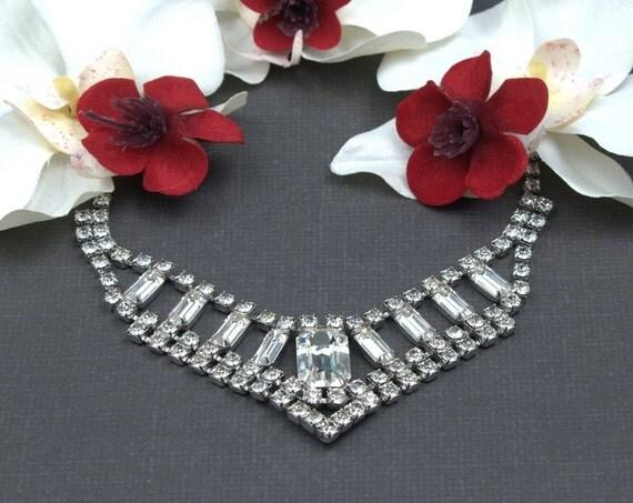 Vintage Diamante Rhinestone Necklace