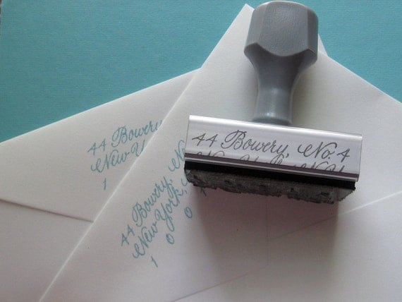 Reserved for Katy F.---Calligraphy Stamp