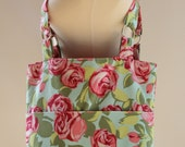Tote Bag Amy Butler Tumble Roses Flowers Large