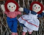 Raggedy Ann and Andy dolls 25 inch