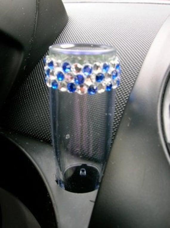 VW Beetle Flower Vase - Diamond and Blue Bling