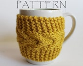 Pattern Knitted Cup Cozy