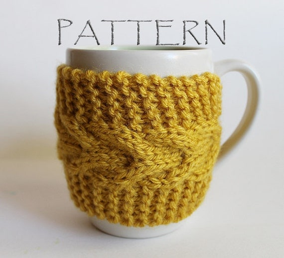 Knit Koozie Pattern : Pattern Knitted Cup Cozy by GoodWeather on Etsy