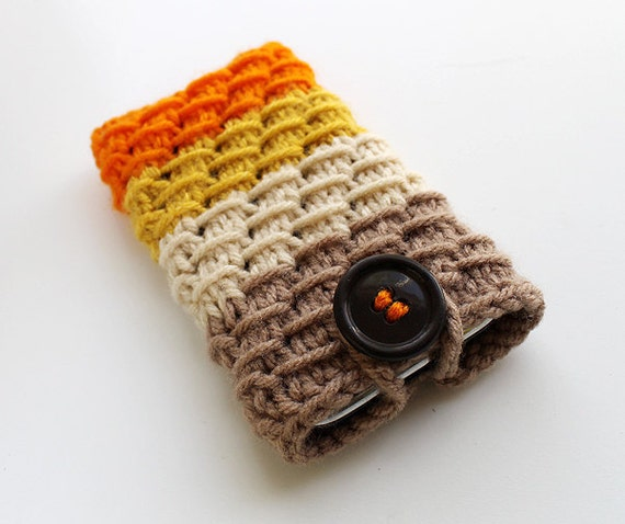 Knitted iPhone iPod Cover Multicolored