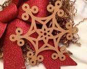 Extra Large Wooden Laser Engraved Snowflake (Style A)