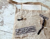 Shabby Chic Antique Inspired Decorated bag - Music Inspiration