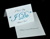 Will You Be My Bridesmaid or Maid or Matron of Honor Card