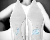 Crystal I DO Wedding Shoe Stickers in Blue