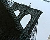 Save the Date Brooklyn Bridge Invitation - New York City Wedding Save the Date