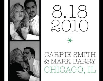 Photo Booth Wedding Save the Date or Invitation
