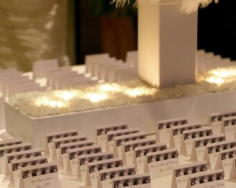 Wedding Escort Photo Booth Place Cards