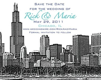 Chicago Save the Date or Invitation