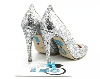 I DO Crystal Shoe Stickers with Large Diamond Ring